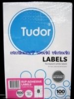 Tudor Laser Inkjet Labels A4 BX100 141071 (8/sh) 105x74mm