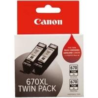Canon Ink Cartridge PGI670XL (670PGBKXL) Black Twin Pack