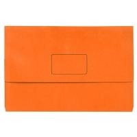 Marbig Slimpick Bright Document Wallet Manilla Fcap PK10 ORANGE