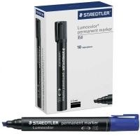 Staedtler 350-3 Permanent Marker Chisel Point BX10 Blue