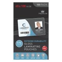GBC Laminating Pouch 65x108mm 175mic Gloss BX100 BL175M65X108
