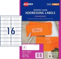 Avery Inkjet Label J8562 Clear PK25 16/sheet