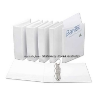 Bantex Insert Binder A4 4D 25mm (200page) White BX25 NO LABEL