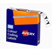 Avery Coding Label Alpha BX500 43225 (Y) 25x38mm Wht Grey