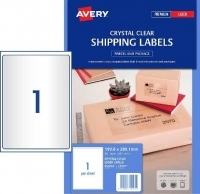 Avery Lasel Label L7567 Clear PK25 sheets 1/sheet