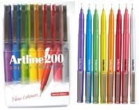 Artline Fineliner Marking Pens No 200 (0.4mm) Wallet 8 Asstd