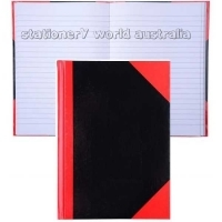Premier Notebook Red & Black Gloss Hardcover A4 Ruled 100 Leaf
