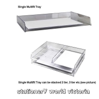 A3 Document Tray Italplast Stackable i90 Clear ( A3+ size )