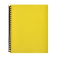 Marbig A4 Refillable Display Book 20pocket 2007005 Yellow