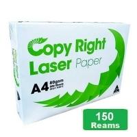 Copy Right Laser A4 White 80gsm Copy Paper D(30bxs:150reams)