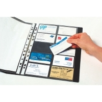 Marbig Business Card Binder A4 Refills 25715 Pkt10 (suit 87031)