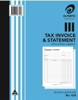 Invoice/Statement Book Duplicate 250x200 100LF Olympic 626