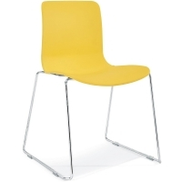 ACTI SC SLED BASE CHAIR Chrome Frame With Plastic Shell Yellow