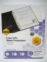 Marbig Sheet Protector Pockets A4 H/Duty Deluxe BX50 25100S
