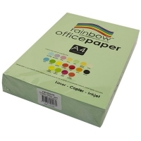 Rainbow Colour Copy Paper A4 80gsm Mint (green) (ream-500sheets)