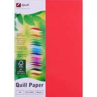 Quill Coloured Paper A4 80gsm Pack 500 - Red