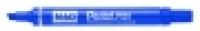 Pentel N60 Permanent Marker Chisel Blue