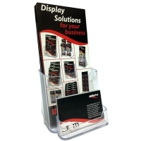 Deflecto Brochure Holder DL + Business Card Holder 77601