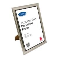 Carven Document Frames A4 Brushed Silver BX6 QFBRSILVA4