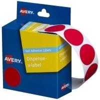 Avery Dispenser Label 24mm Red BX500