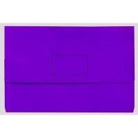 Marbig Slimpick Bright Document Wallet Manilla Fcap PK10 PURPLE