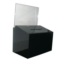 Deflecto Ballot Box A4 Landscape 66612 Black