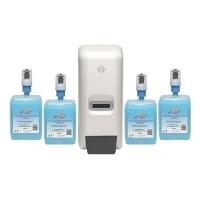 Northfork Liquid Hand Wash Dispenser Starter Pk 4 Cart