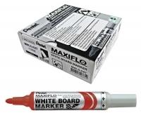 Pentel Maxiflo Whiteboard Marker MWL5B Red BX12