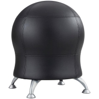 SAFCO ZENERGY EXERCISE BALL CHAIR Black Vinyl