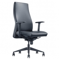 Style Venus Executive High Back Black PU Chair