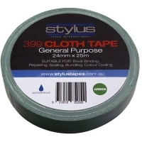 Stylus 399 Cloth Binding Tapes (Pack 8 rolls) 24mm x 25Mt Green