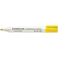 Staedtler Whiteboard Marker 351-1  Bullet Point Yellow BX10