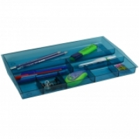 ITALPLAST DRAWER TIDY i70 (Tinted)  Blue