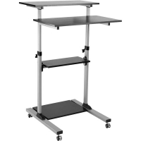 ERGOVIDA MOBILE COMPUTER CART Lockable Castors Height Adjustable