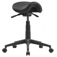 CAD Saddle Stool - Black Polyurethane leather