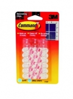 Command Adhesive 3M Decorating Clip 24 MiniStrips 20 Clips 17026