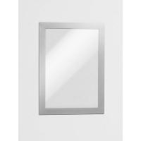 Durable Magaframe Sign Holder A5 Adhesive Back PK2 Silver