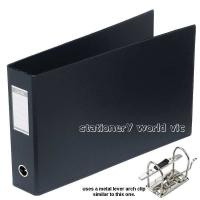 Bantex Lever Arch Binder A3 Oblong 65mm (500p) 1468-A10 Black