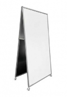 Alpha AD1 Mobile Porcelain Double Sided Whiteboard 1800x900mm