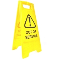 CLEANLINK SAFETY SIGN Out Of Service 32x31x65cm