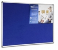 Visionchart Corporate Felt Pinboard 1200 x 900 Royal Blue