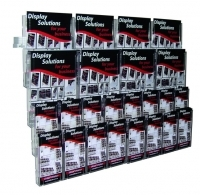 Deflecto Brochure Holder Lit-Loc Wall Display A4 x8 & DL x16