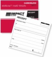 Cash Receipt Book Duplicate 100x127mm Carbonless Impact SB311