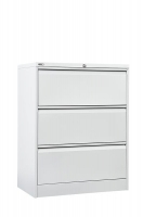 Go Lateral Filing Cabinet 3 Drawer White Satin