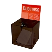 Esselte Ballot Box Large 260x260x260mm Smoke +Header Card +Lock