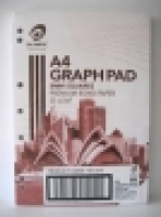 Olympic Graph Pad A4 5mm 25leaf PK5 141373 Punched 7 holes
