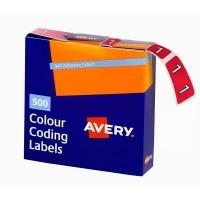 Avery Coding Label Numeric BX500 43241 (1) 25x38mm Magenta
