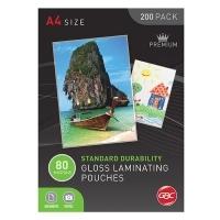 GBC Laminating Pouch A4 80mic Gloss BX200 BL80M200A4
