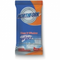 NORTHFORK GLASS & WINDOW WET WIPES PK50