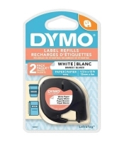 Dymo Letratag Labelling Tape Paper 92630/10697 White PK2
